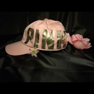 Pink Victoria's Secret baseball hat